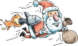 Rocket Santa Stock Photography