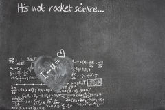 Rocket science love Royalty Free Stock Image