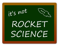 Rocket science royalty free illustration