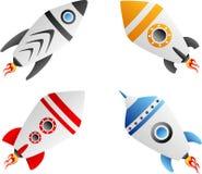 Rocket set. Vector illustration of rocket set Stock Photos