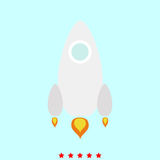 Rocket  set  it is color icon . Simple style Stock Images