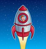 Rocket Ship Boy vector illustration