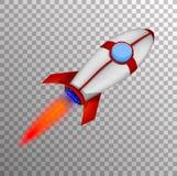 Rocket Ship in einer Karikatur-Art Stockfoto