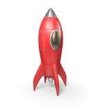 Rocket Ship. Red rocket - 3d rendering, on white background royalty free illustration