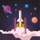 Rocket ship shuttle launch Royalty Free Stock Photo