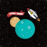 Rocket ship space travel Royalty Free Stock Image