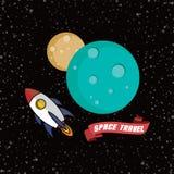Rocket ship space travel Royalty Free Stock Photo