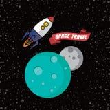 Rocket ship space travel Stock Image