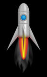 Rocket Ship. Spacecraft shaped like a rocket Royalty Free Stock Images