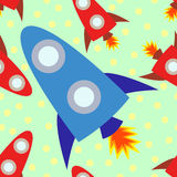 Rocket Ship Tileable Illustration Stock Image