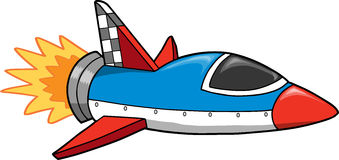 Rocket ship Vector Illustration Royalty Free Stock Photos