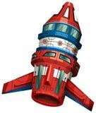 Rocket ship with wings. Illustration stock illustration