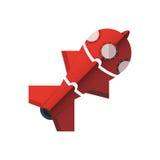 Rocket si è diviso nelle parti Sotto forma di puzzle Fotografia Stock