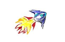 Rocket Sketch Fotografia de Stock