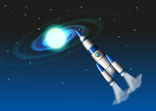 A rocket in the sky Stock Image