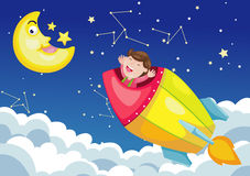 Rocket in sky Royalty Free Stock Image