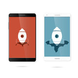 Rocket smart phone wallpaper Royalty Free Stock Photo