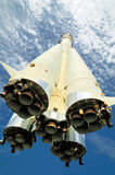 The rocket, soaring in the sky Royalty Free Stock Photo