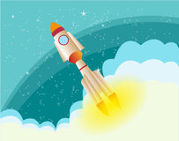 Rocket In The Space background Stock Images