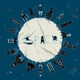Rocket space circle Stock Images