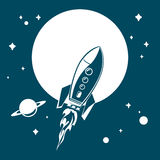 Rocket in space, EPS 10, file contains Royalty Free Stock Photo