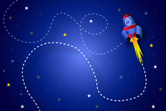 Rocket in the space Royalty Free Stock Photo