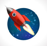 Rocket in space Stock Photography