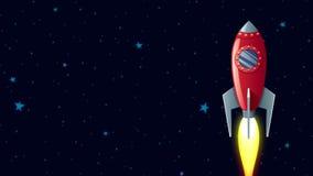 Rocket in Space stock video