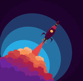 Rocket in the space. Object vector. Bright Rocket in the space. Object vector Stock Images