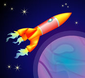 Rocket space ship. A rocket type space ship stock illustration