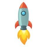 Rocket Space Ship Royaltyfri Foto