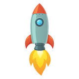 Rocket Space Ship Foto de Stock Royalty Free