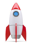 Rocket space ship. Isolated on white. 3D rendering Stock Photography