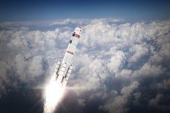 Rocket Space Ship Meios mistos Foto de Stock Royalty Free