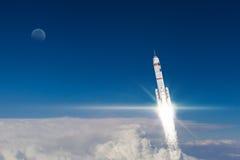 Rocket Space Ship Meios mistos Imagens de Stock