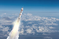 Rocket Space Ship Meios mistos Imagens de Stock Royalty Free