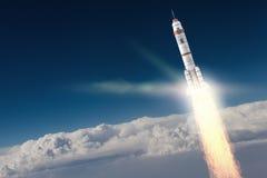 Rocket Space Ship Meios mistos Imagem de Stock