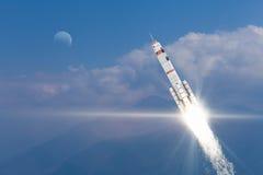 Rocket Space Ship Meios mistos Imagem de Stock Royalty Free