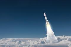 Rocket Space Ship . Mixed media royalty free stock photos