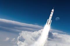 Rocket Space Ship Técnicas mixtas Foto de archivo