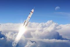 Rocket Space Ship Técnicas mixtas Fotos de archivo libres de regalías
