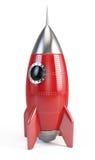 Rocket space ship. On white royalty free illustration