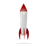 Rocket space. Ship on white royalty free illustration