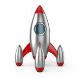 Rocket spaceship successful startup. Rocket spaceship symbol of successful business startup 3d illustration on white background retro technology style royalty free illustration