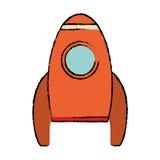 Rocket spaceship travel icon. Illustration eps 10 Stock Image