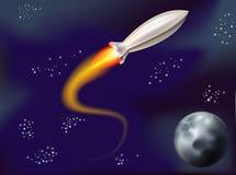 Rocket in spazio Immagini Stock Libere da Diritti