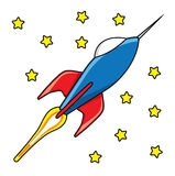 Rocket with stars Royalty Free Stock Photo