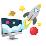 Rocket Start Project Cartoon Stock Photography