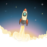 Rocket start to open space Royalty Free Stock Photos