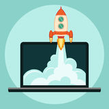 Rocket Start up concept Royalty Free Stock Photography